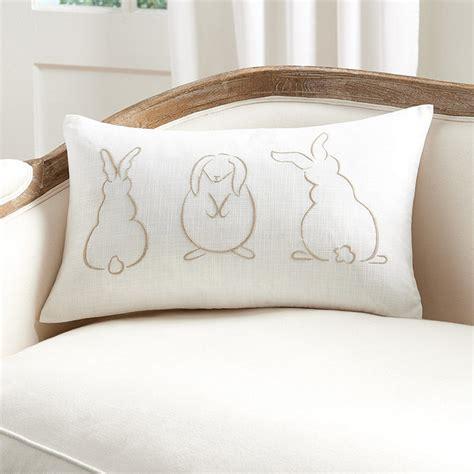 Ballard Designs Pillows embroidery bunnies pillow ballard designs