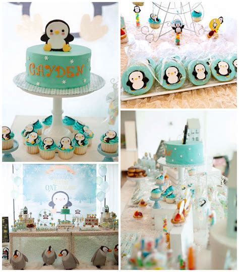 party themes in winter kara s party ideas winter quot one quot derland penguin 1st