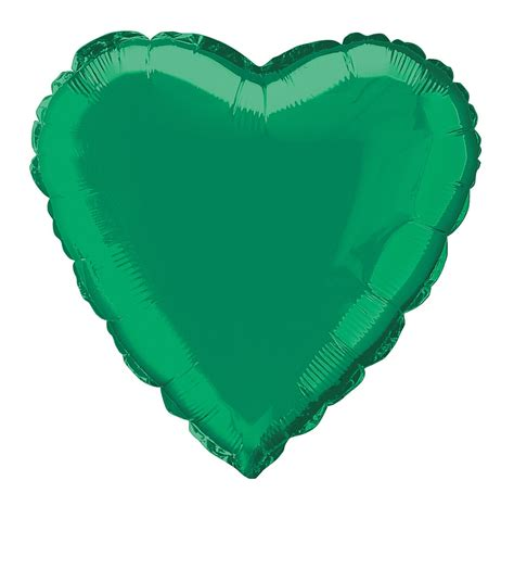 Green heart shaped foil balloon 18 quot clipart best clipart best
