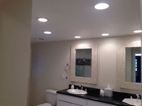 Bathroom Recessed Lighting Installation Coronado San Diego Custom Electric