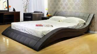 Contemporary Platform Bed The Wave Bed Dudeiwantthat Com