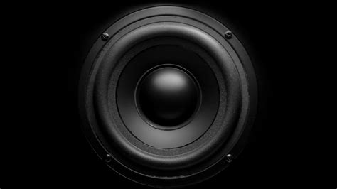 Speaker Bass Thumping Bass Audio Speaker Stock 12368146 Hd Stock Footage