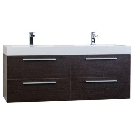54 double sink vanity 54 quot modern double sink vanity set in espresso tn b1380 wg