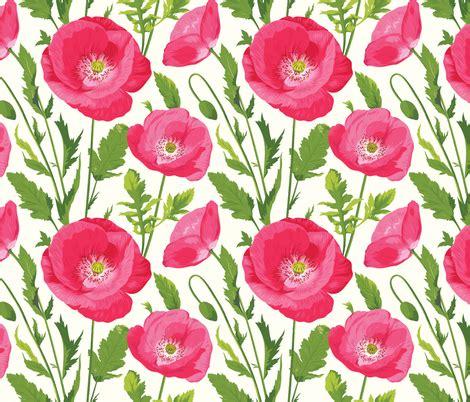 pattern for fabric poppy poppy pattern fabric ybt spoonflower