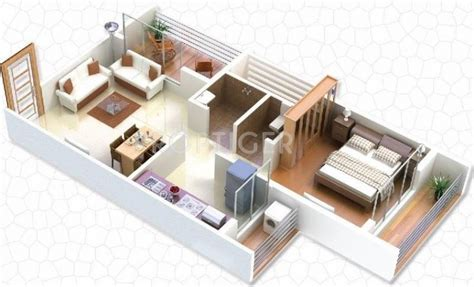 home design in 100 gaj 610 sq ft 1 bhk floor plan image gaj avenue available