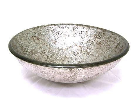 silver foil glass brilliant vessel sink glass silver foil glass vessel sink