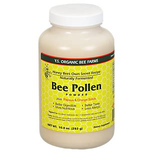 Vitamin Honey Bee Pollen Bee Pollen Powder 10 Ounces Powder By Ys Royal Jelly
