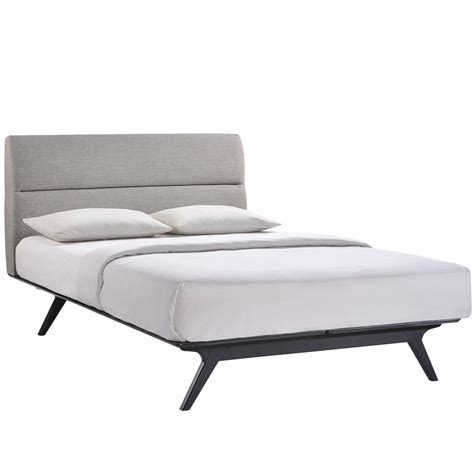 modern full bed frame furniture mid century king size bed frame with headboard