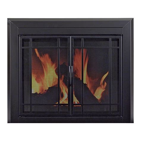 Pleasant Hearth Glass Fireplace Doors Pleasant Hearth Easton Fireplace Glass Door For Masonry Fireplaces Small Midnight Black