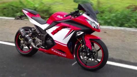 Sticker Kawasaki Ninja 300 by New Ninja 300 With Custom Stickers Ducati Panigale Youtube