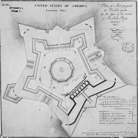 layout plan of red fort visiting fort morgan alabama discover historic travel