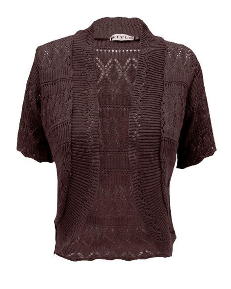 Bolero Cardigan crochet knitted bolero shrug cardigan womens cropped top plus size 16 30 ebay