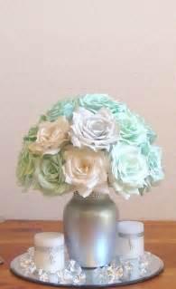 mint green wedding centerpiece bridal table centerpiece reception decor bridal shower decor