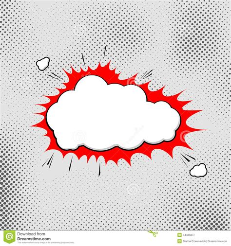 explosion pop art bubble template comic style stock vector