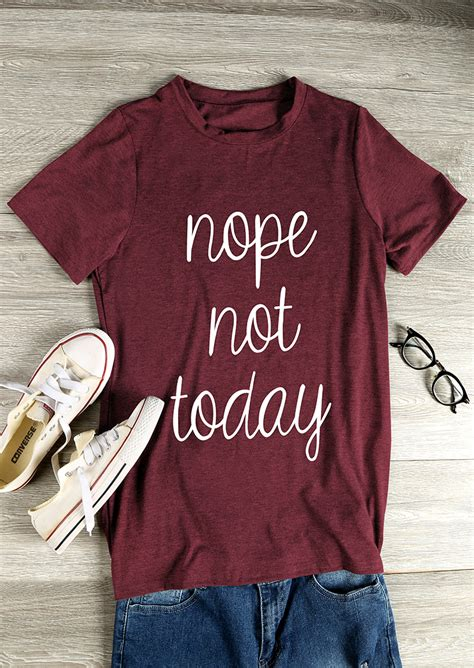 T Shirt Nope Not Today nope not today sleeve t shirt bellelily
