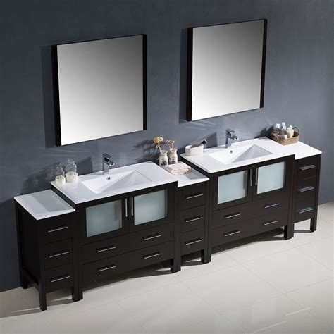 double sink bathroom furniture convenience boutique fresca torino 108 quot espresso modern
