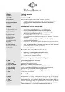 Bartender Duties Resume Bartender Job Description Resume Berathen Com