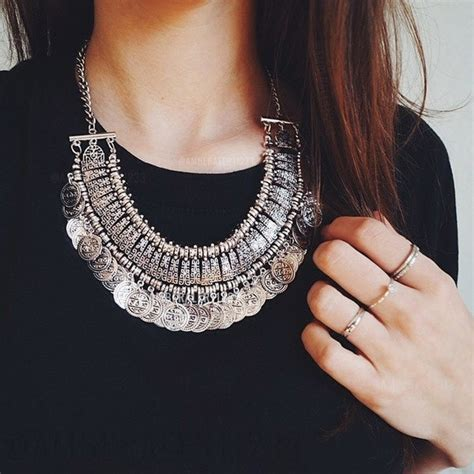 Boho Silber by Boho Boho Silver Coin Necklace From A S Closet On