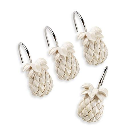 Tommy Bahama 174 Pineapple Shower Curtain Hooks Set Of 12 Bahama Bathroom Accessories