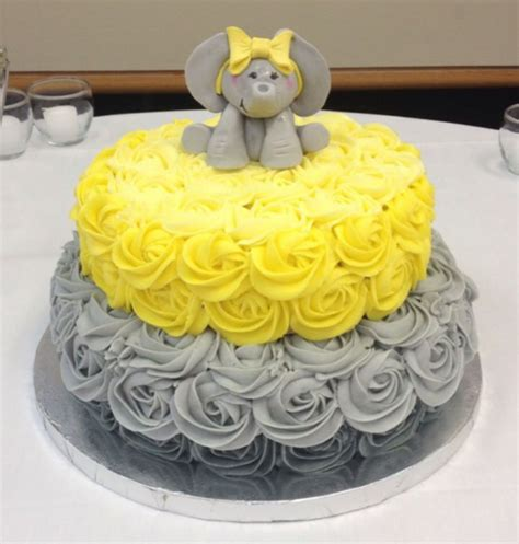 Decorating Ideas For Baby Shower Cake 31 Baby Shower Decorating Ideas With Gray Yellow Theme