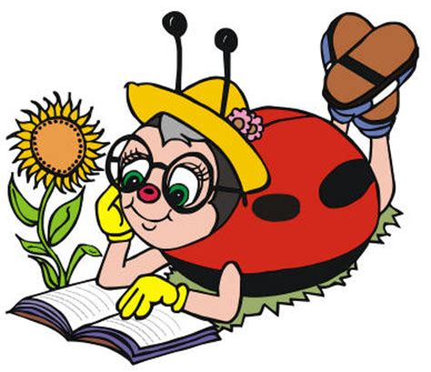 Barn Home Bug O 20 Ml ladybug clipart reading pencil and in color ladybug