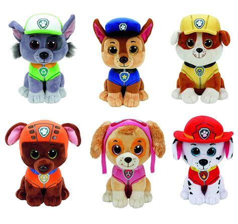 ty la1000 l reset new 2017 set of 6 ty paw patrol plush dog toy chase