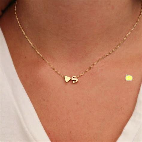 Kalung Korea Shape Simple Design T6abd fashion 26 letter shaped charm pendant necklace simple necklace gift gold
