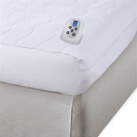 serta waterproof warming mattress pad white walmart