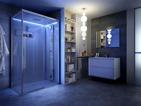 night lights for bathrooms the perimeter mood lighting of reloaded shower cabin