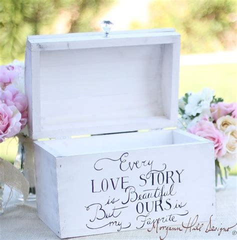 wedding card box shabby chic decor vintage inspired hand painted keep