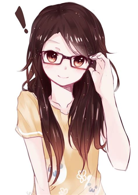 Anime Glasses | anime art girl glasses drawings pinterest
