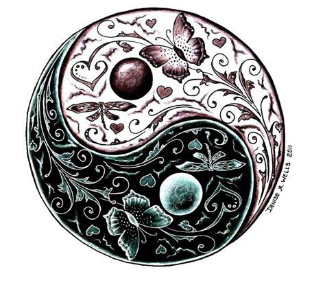 sun moon yin yang tattoo designs yin yang fresh ideas