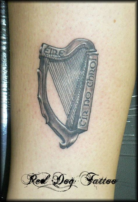 irish harp tattoo designs black harp search i it