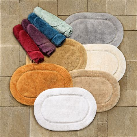 oval bathroom rug luxurious cotton non skid 2pc oval bath rug set