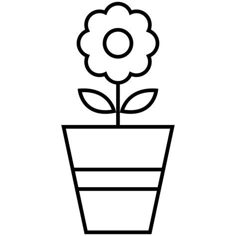 vasi con fiori da colorare vaso di fiori da colorare