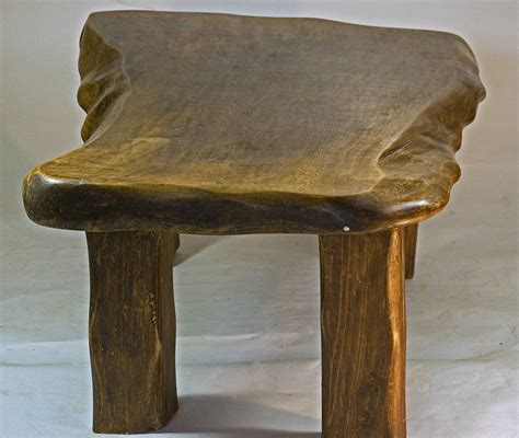 rustic handmade large wooden coffee table by kwetu
