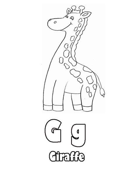 coloring pages that start with the letter g animations a 2 z coloring pages of letters with animals g