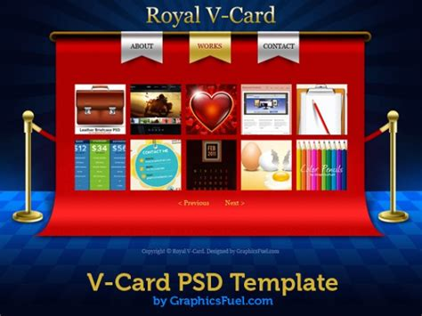 draggable card website template v card website psd templates psd file free