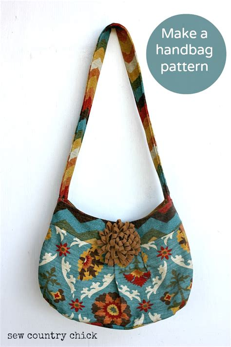 How To Make Handmade Purses - how i make a handbag pattern and sew it