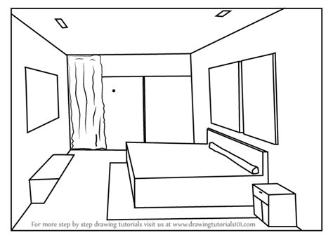 learn   draw  point perspective bedroom  point perspective step  step drawing