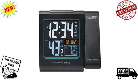 atomic projection alarm ceiling digital wall display clock usb weather backlight