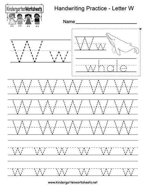 kindergarten printable handwriting practice sheets for preschool