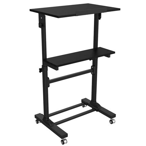 height adjustable multi purpose mobile podium lectern and