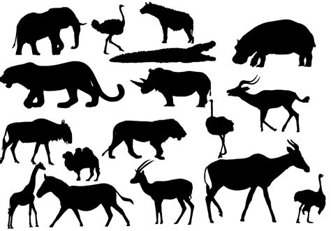 printable jungle animal silhouettes african animals by lukasiniho on deviantart