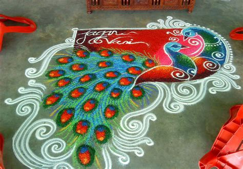 Indian Home Wedding Decor wedding kolam design