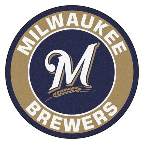 milwaukee brewers logo roundel mat 27 area rug