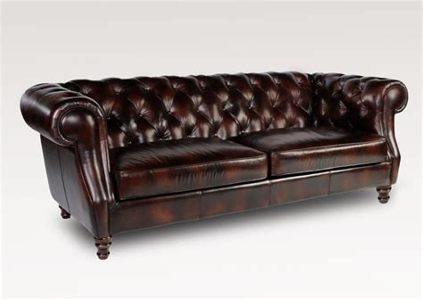 Chesterfield Leather Sofas Set Of 94 Quot Classic Chesterfield Sofa And Chair Vintage Brown Soft Leather Ebay