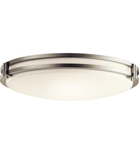 avon flush mount bathroom ceiling light kichler 10788niled avon led 24 inch brushed nickel flush mount ceiling light