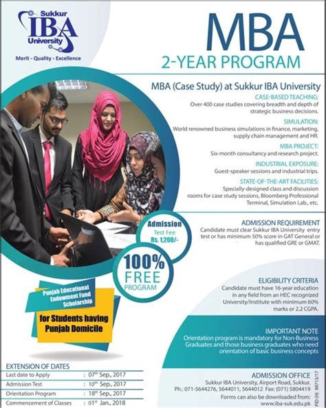 Mba Admission Criteria In Iba Karachi by Iba Sukkur Admission 2018 In 2 Years Mba