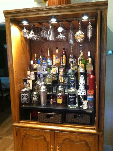 armoire bar cabinet build a liquor cabinet woodworking projects plans